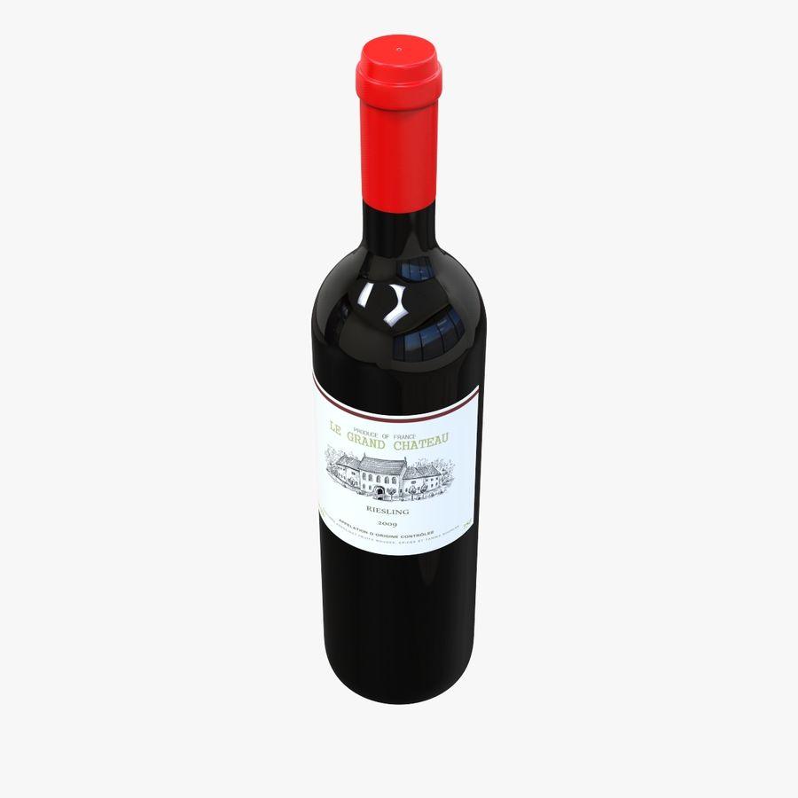 Botella de vino royalty-free modelo 3d - Preview no. 2