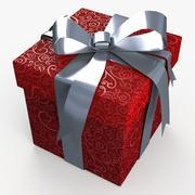 Christmas BOX Closed2 Ribbon 3d model