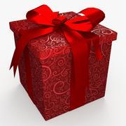 Kerstdoos gesloten lint 3d model