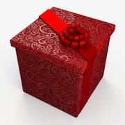 Christmas BOX Closed Tape 3d model
