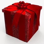 Рождество BOX Закрытые ленты 3d model