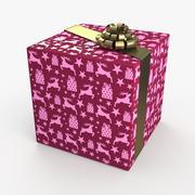 Рождество BOX Лента олень 3d model