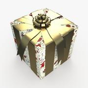 Рождество BOX ленты искусства 3d model