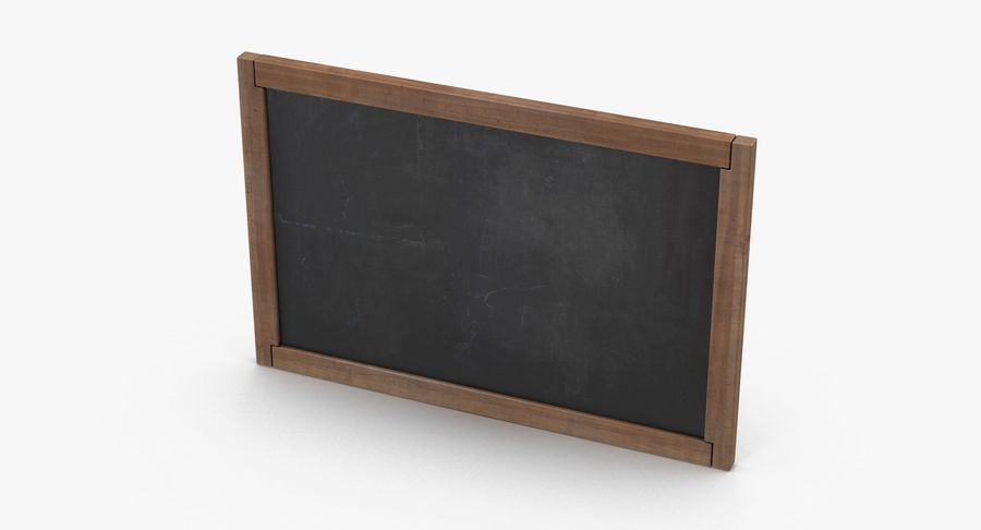 Chalkboard royalty-free 3d model - Preview no. 4