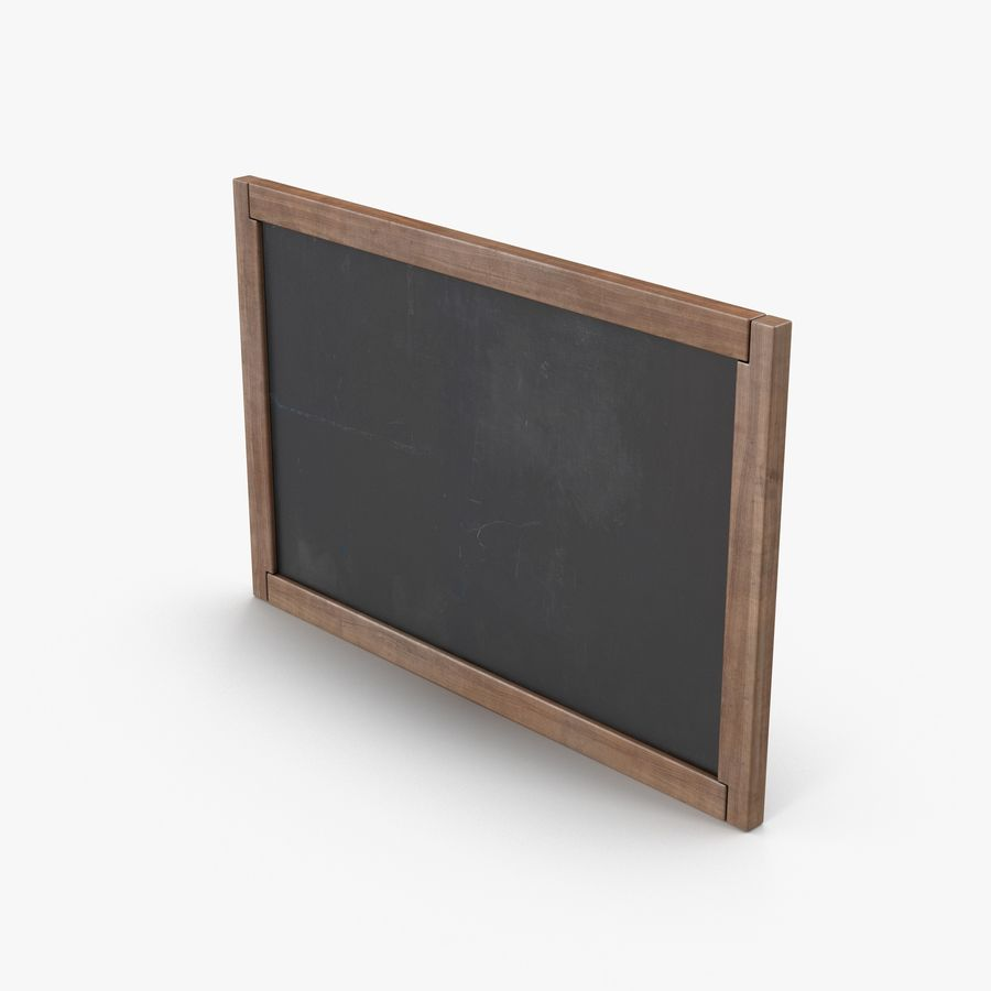 Chalkboard royalty-free 3d model - Preview no. 2