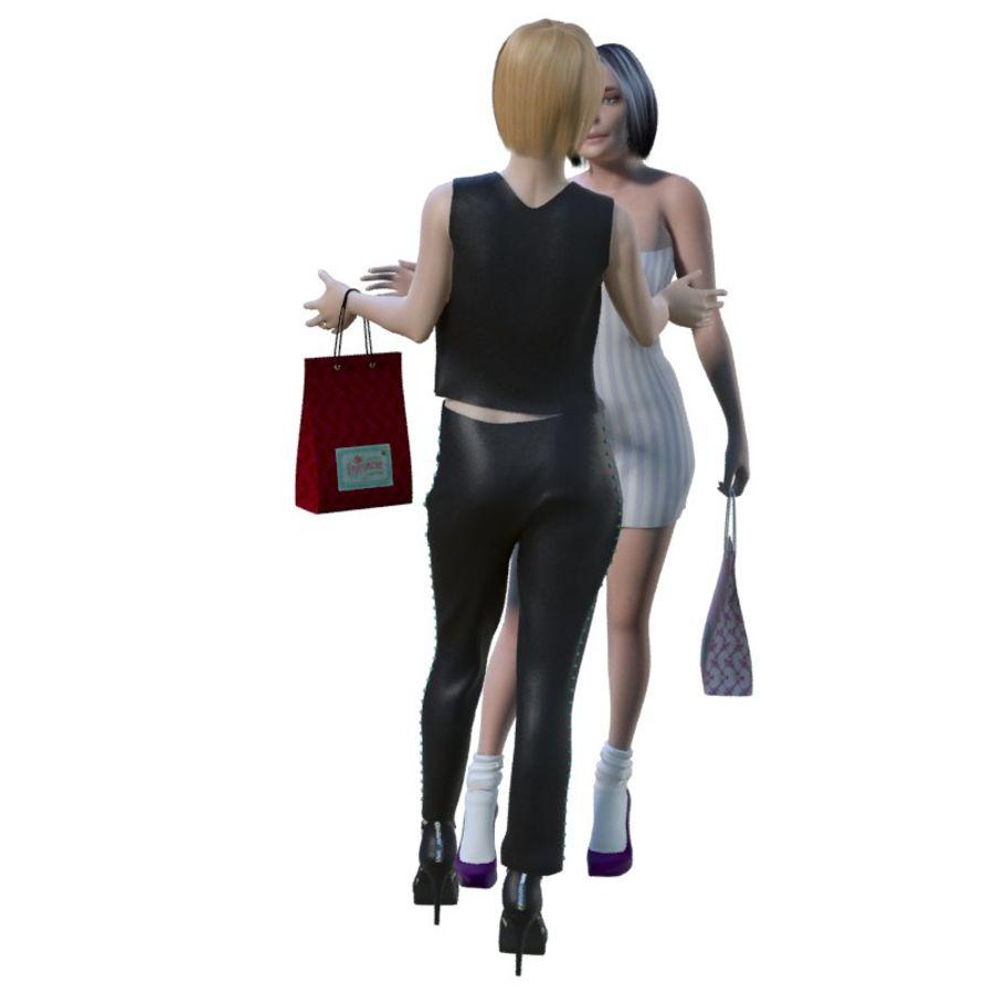 Deux filles 06 royalty-free 3d model - Preview no. 3