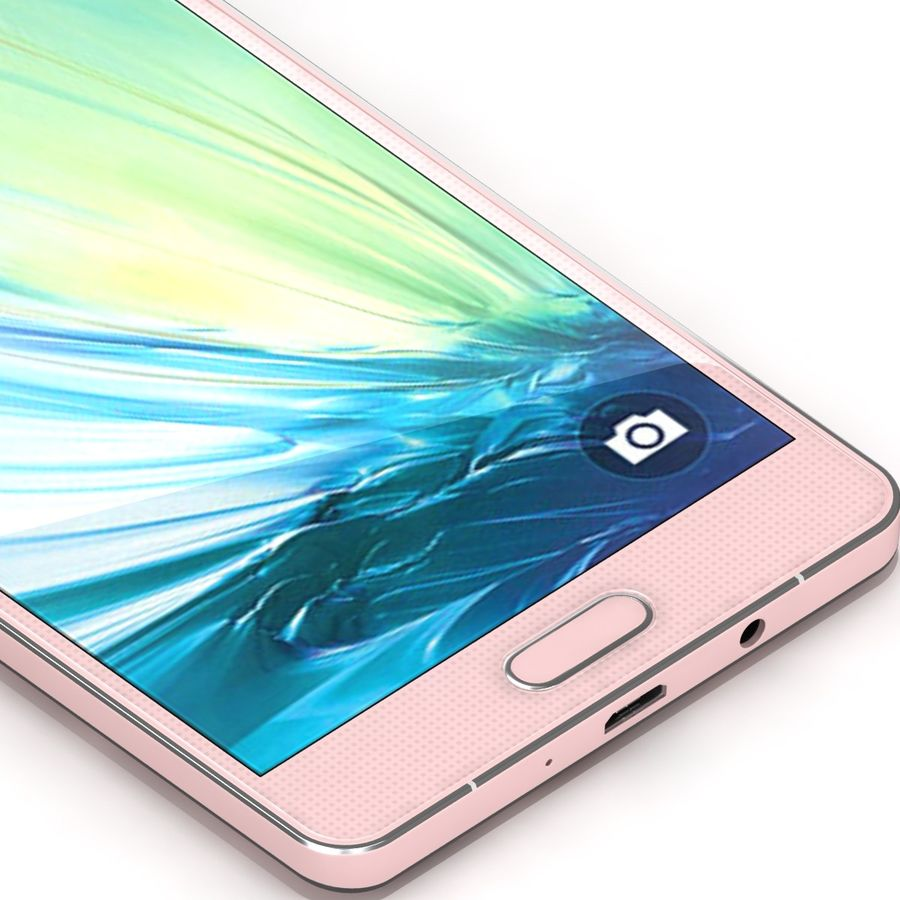 Samsung Galaxy A5 Pink royalty-free 3d model - Preview no. 8