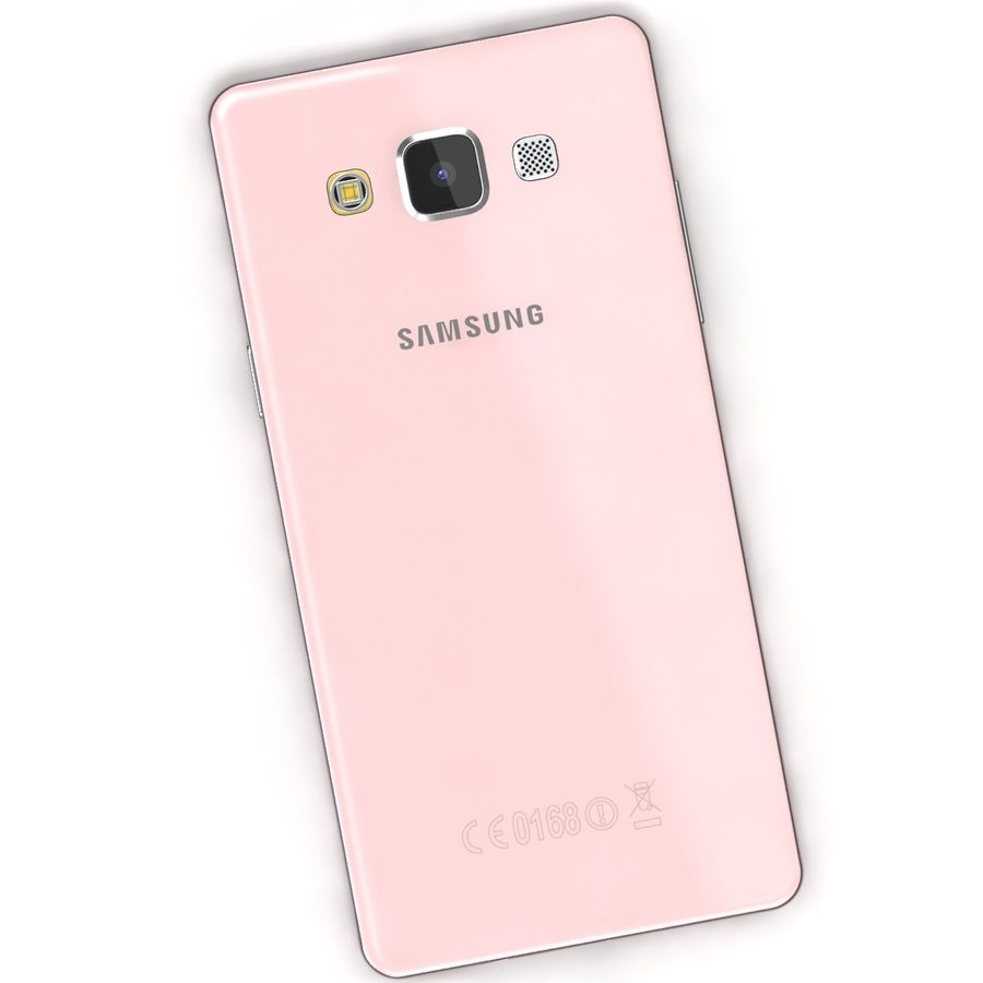 Samsung Galaxy A5 Pink royalty-free 3d model - Preview no. 5