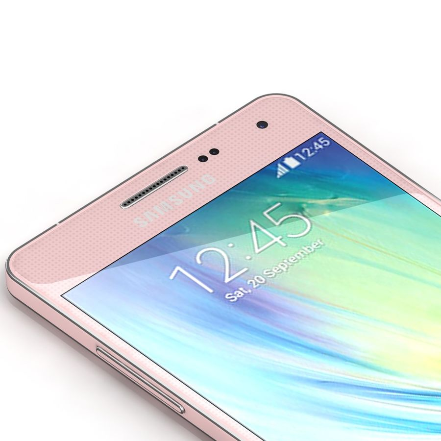 Samsung Galaxy A5 Pink royalty-free 3d model - Preview no. 6