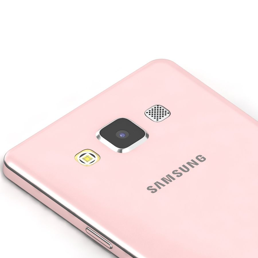 Samsung Galaxy A5 Pink royalty-free 3d model - Preview no. 7