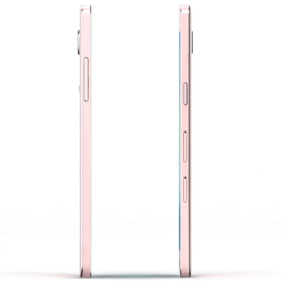 Samsung Galaxy A5 Pink royalty-free 3d model - Preview no. 3