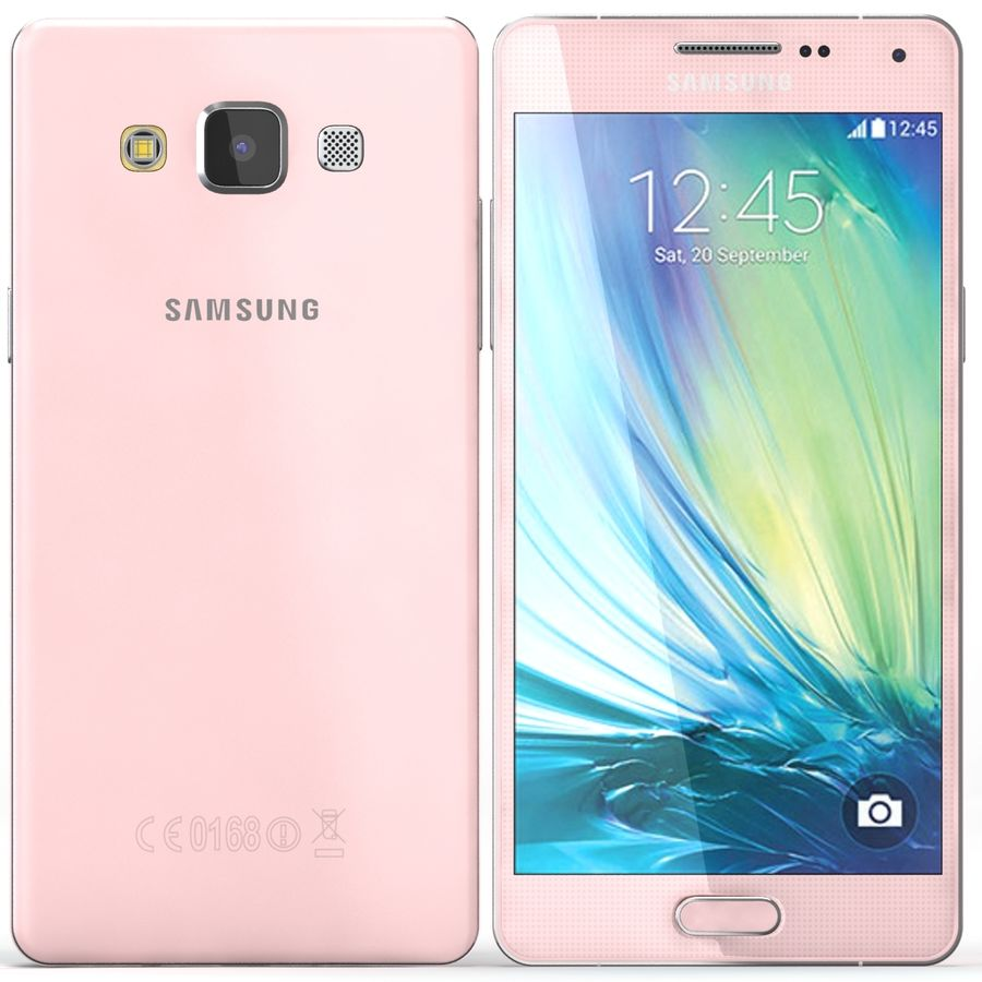 Samsung Galaxy A5 Pink royalty-free 3d model - Preview no. 1