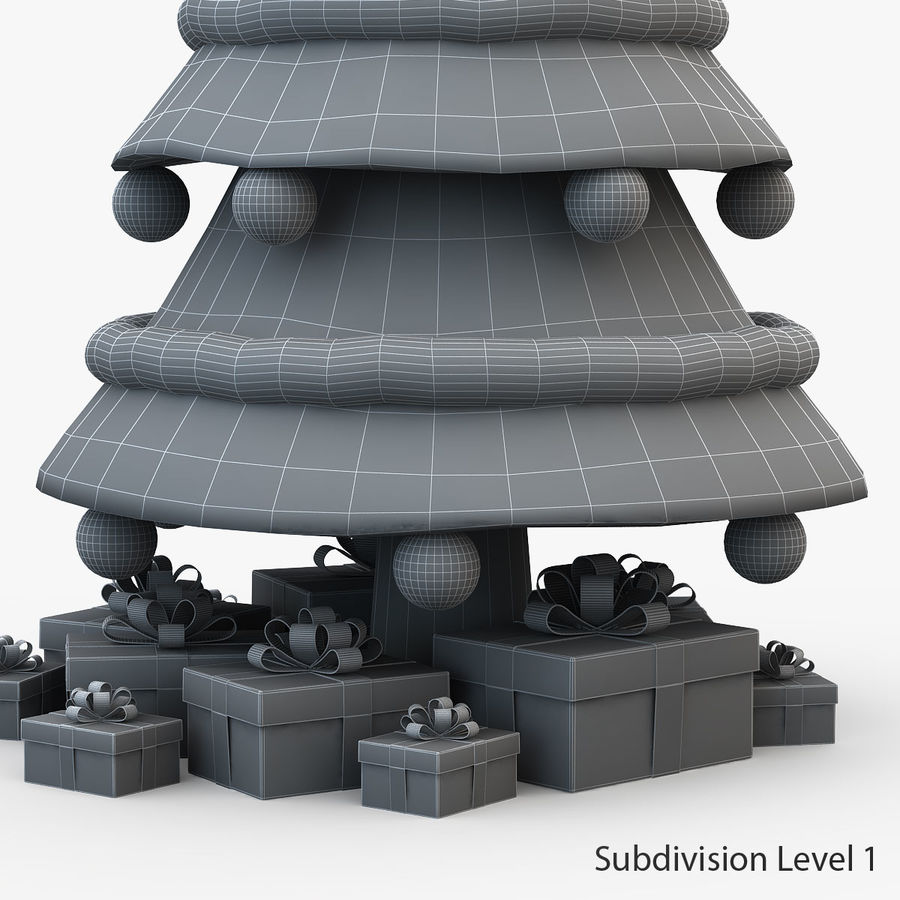 Weihnachtsbaum royalty-free 3d model - Preview no. 14