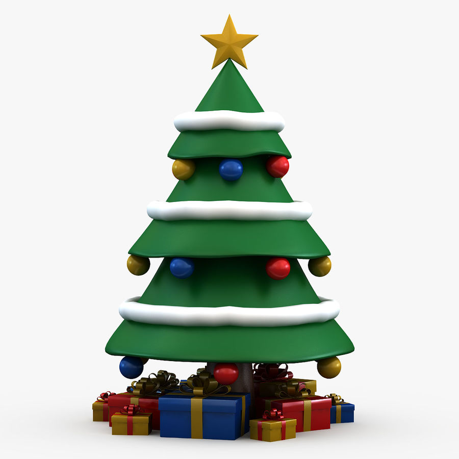 Weihnachtsbaum royalty-free 3d model - Preview no. 3
