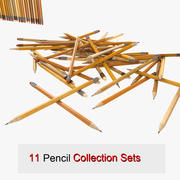 Pencil Office Set Collection normal writing 3d model