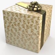 Рождество BOX Лента крем 3d model