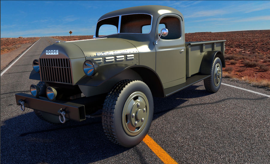 Dodge Power Wagon royalty-free 3d model - Preview no. 2