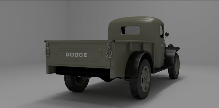 Dodge Power Wagon royalty-free 3d model - Preview no. 4