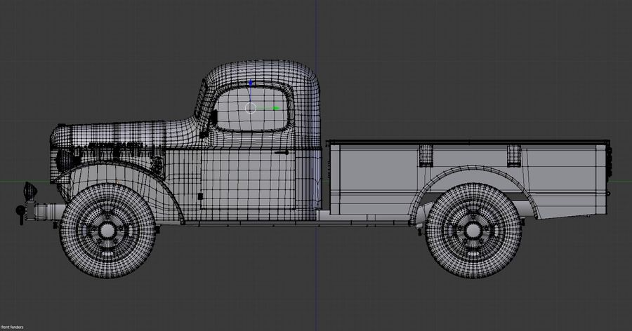 Dodge Power Wagon royalty-free 3d model - Preview no. 9
