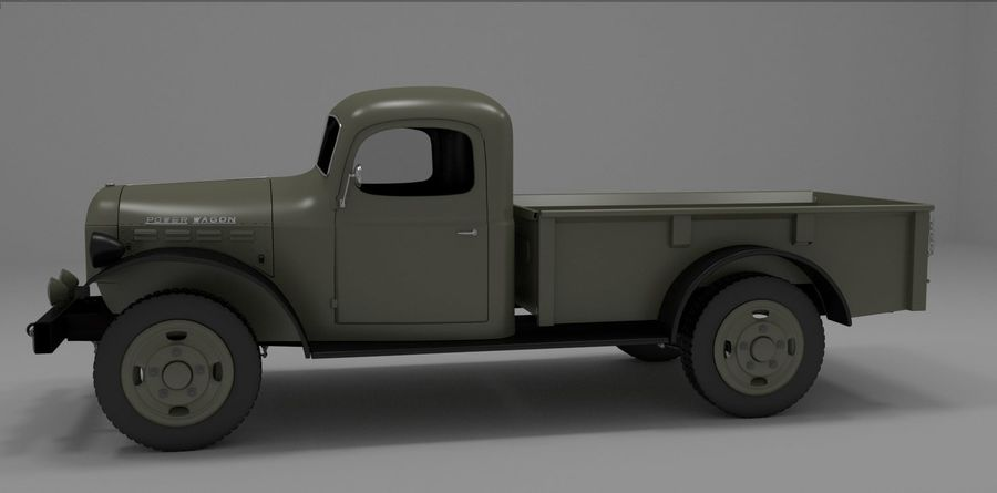 Dodge Power Wagon royalty-free 3d model - Preview no. 6