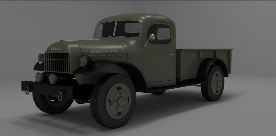 Dodge Power Wagon royalty-free 3d model - Preview no. 7