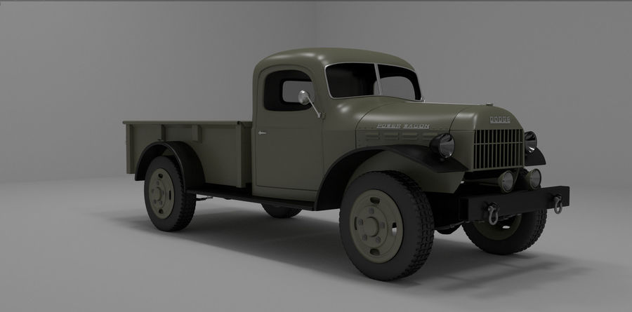 Dodge Power Wagon royalty-free 3d model - Preview no. 1