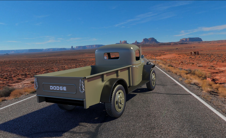 Dodge Power Wagon royalty-free 3d model - Preview no. 3