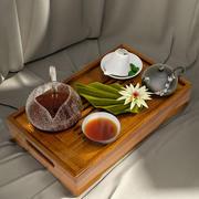 お茶、ナプキン、ミントの葉、ユリのトレイ 3d model