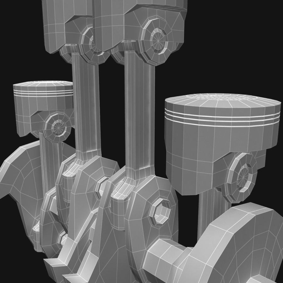 Auto engine royalty-free 3d model - Preview no. 14