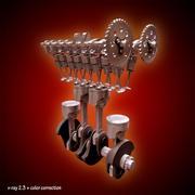 自動エンジン 3d model