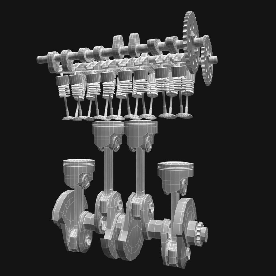 Auto engine royalty-free 3d model - Preview no. 10