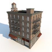 Apartment and Shop Front 3d model