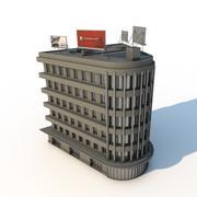 Edificio de oficinas curvo modelo 3d