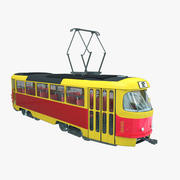 Tatra T3 Tram train 3d model
