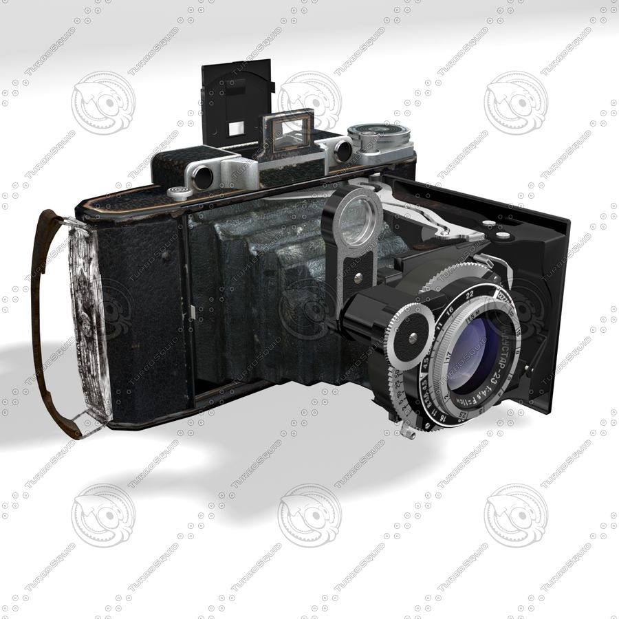 Vintage photo camera royalty-free 3d model - Preview no. 1
