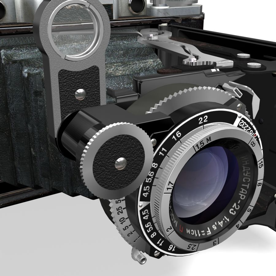 Vintage photo camera royalty-free 3d model - Preview no. 4