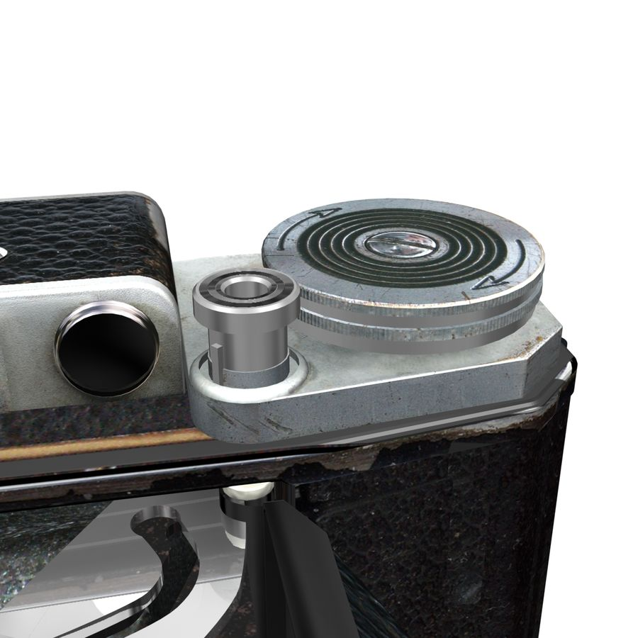 Vintage photo camera royalty-free 3d model - Preview no. 6
