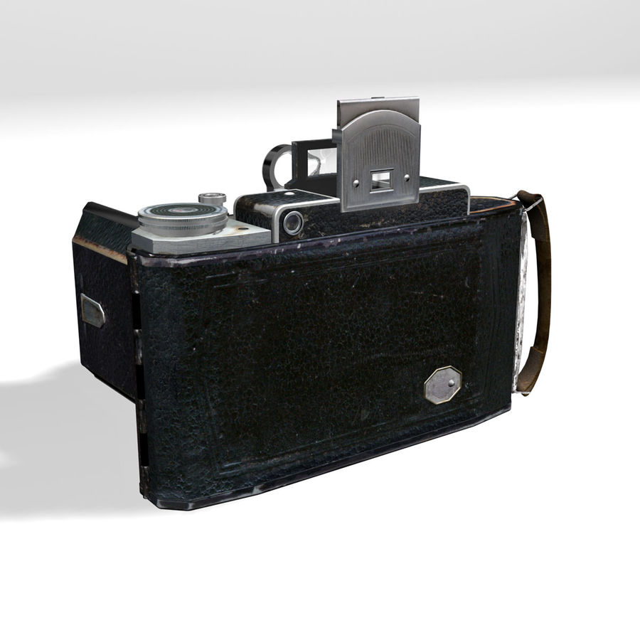Vintage photo camera royalty-free 3d model - Preview no. 8