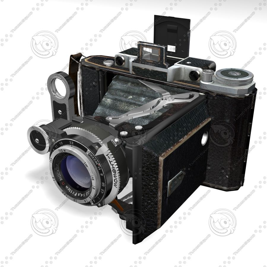 Vintage photo camera royalty-free 3d model - Preview no. 2