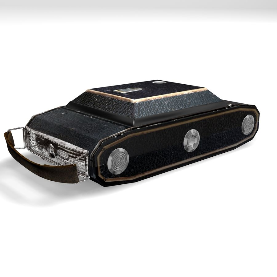 Vintage photo camera royalty-free 3d model - Preview no. 11