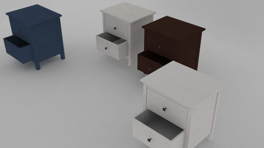 IKEA HEMNES 2 drawer chest royalty-free 3d model - Preview no. 5