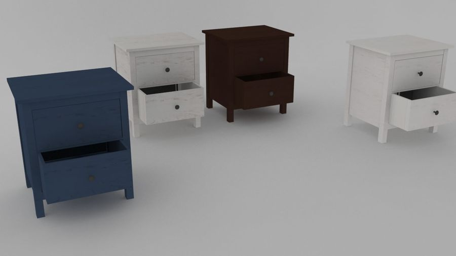 IKEA HEMNES 2 drawer chest royalty-free 3d model - Preview no. 1