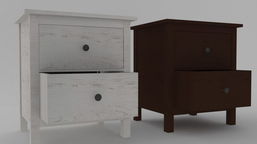 IKEA HEMNES 2 drawer chest royalty-free 3d model - Preview no. 4