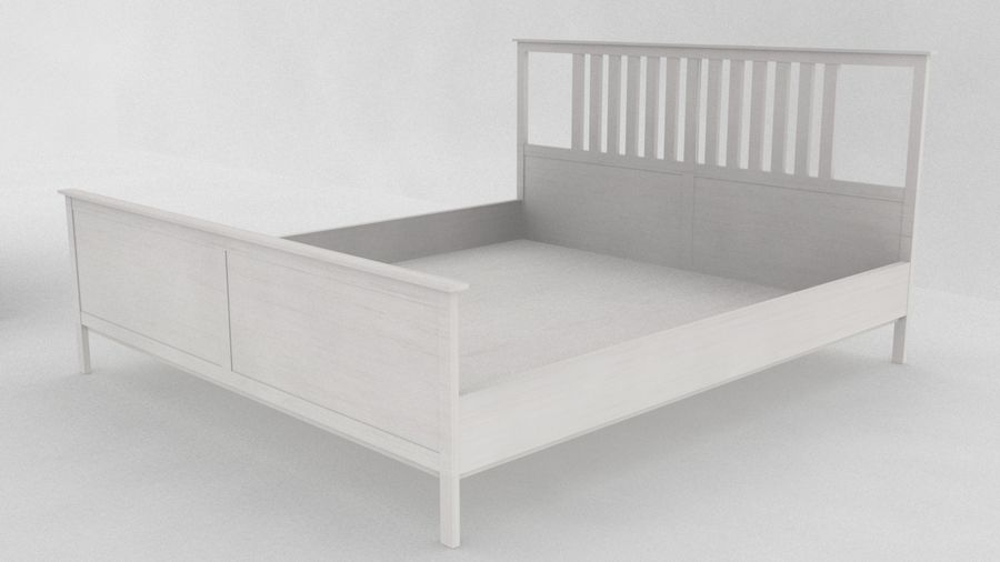 IKEA HEMNES Bed frame Double royalty-free 3d model - Preview no. 1