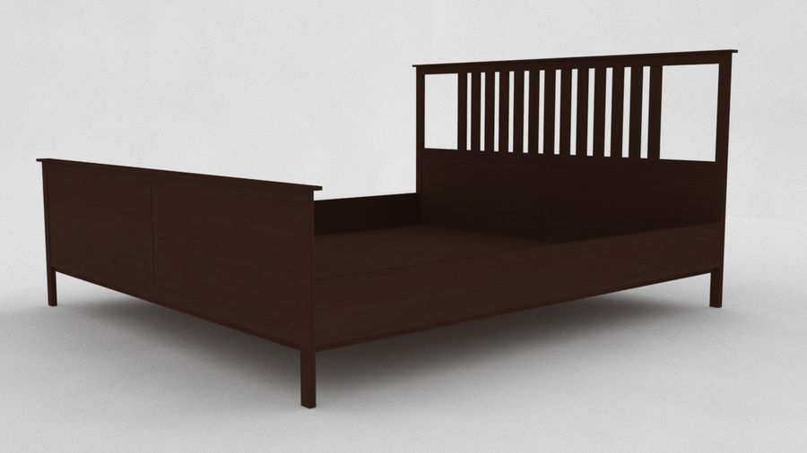 IKEA HEMNES Bed frame Double royalty-free 3d model - Preview no. 2