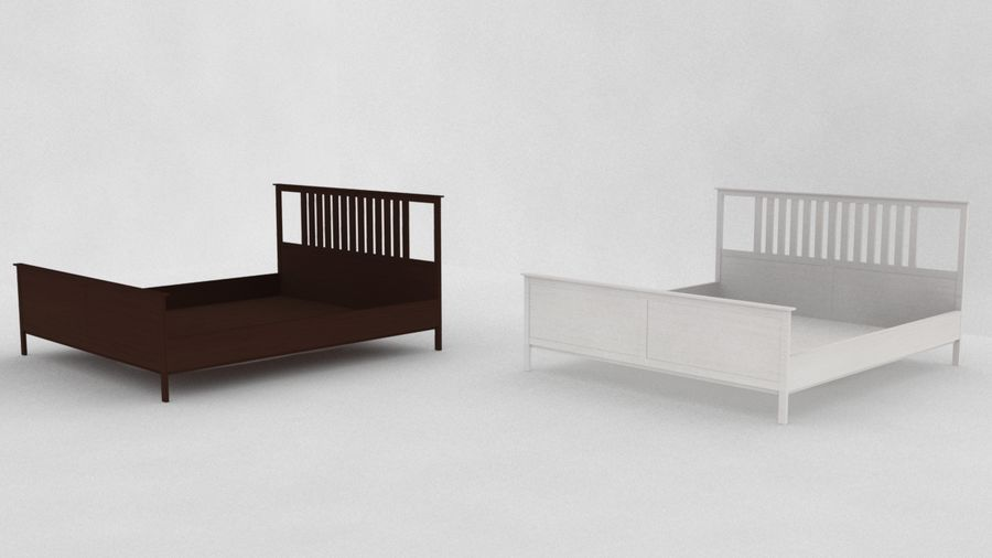 IKEA HEMNES Bed frame Double royalty-free 3d model - Preview no. 3