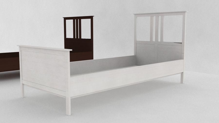IKEA HEMNES Bed frame Single royalty-free 3d model - Preview no. 1