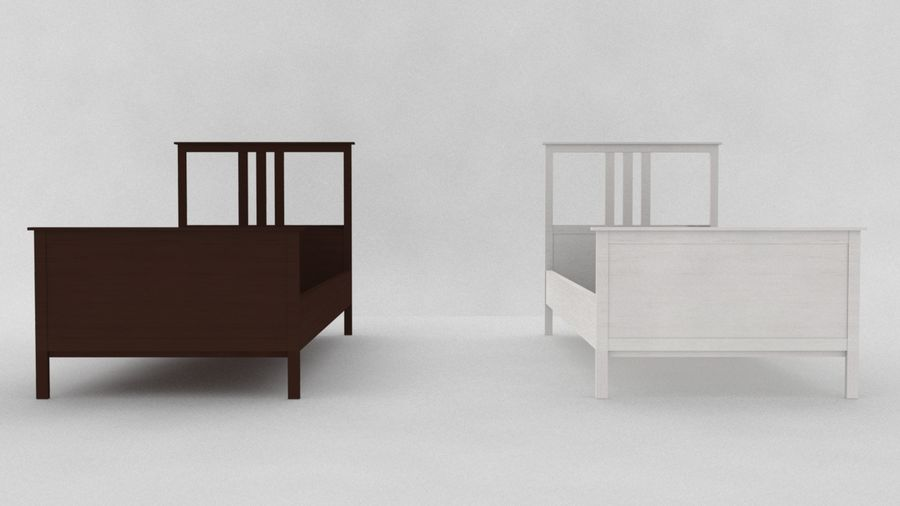 IKEA HEMNES Bed frame Single royalty-free 3d model - Preview no. 5