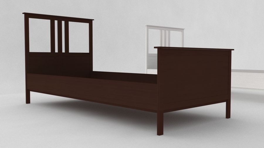 IKEA HEMNES Bed frame Single royalty-free 3d model - Preview no. 2