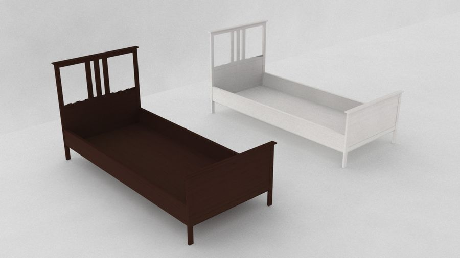 IKEA HEMNES Bed frame Single royalty-free 3d model - Preview no. 3
